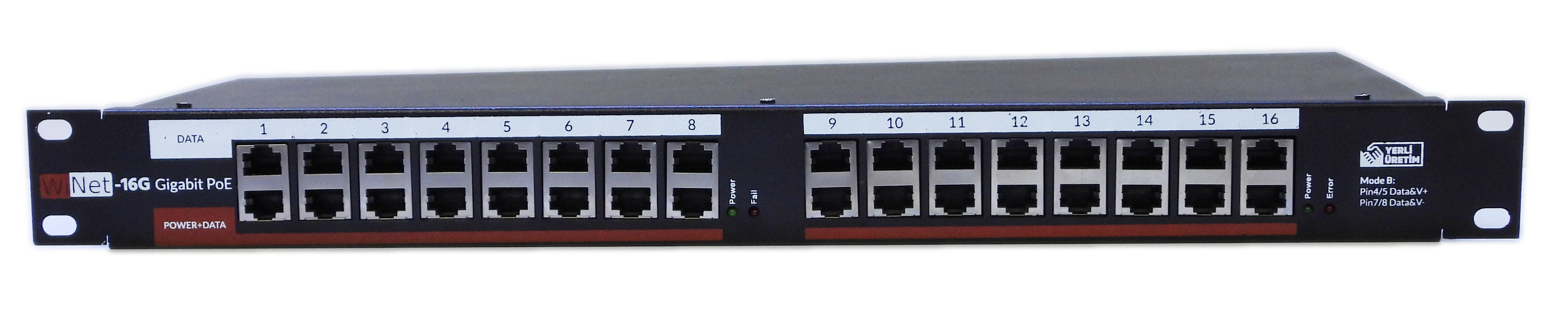 PANEL-16P-GB-POE-V2 16 PORT GIGABIT POE PANEL INJECTOR V2