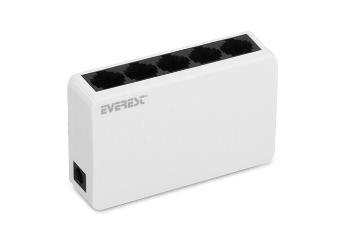 EVEREST-ESW-105 EVEREST ESW-105 5 PORT 10/100Mbps ETHERNET SWITCH / HUB