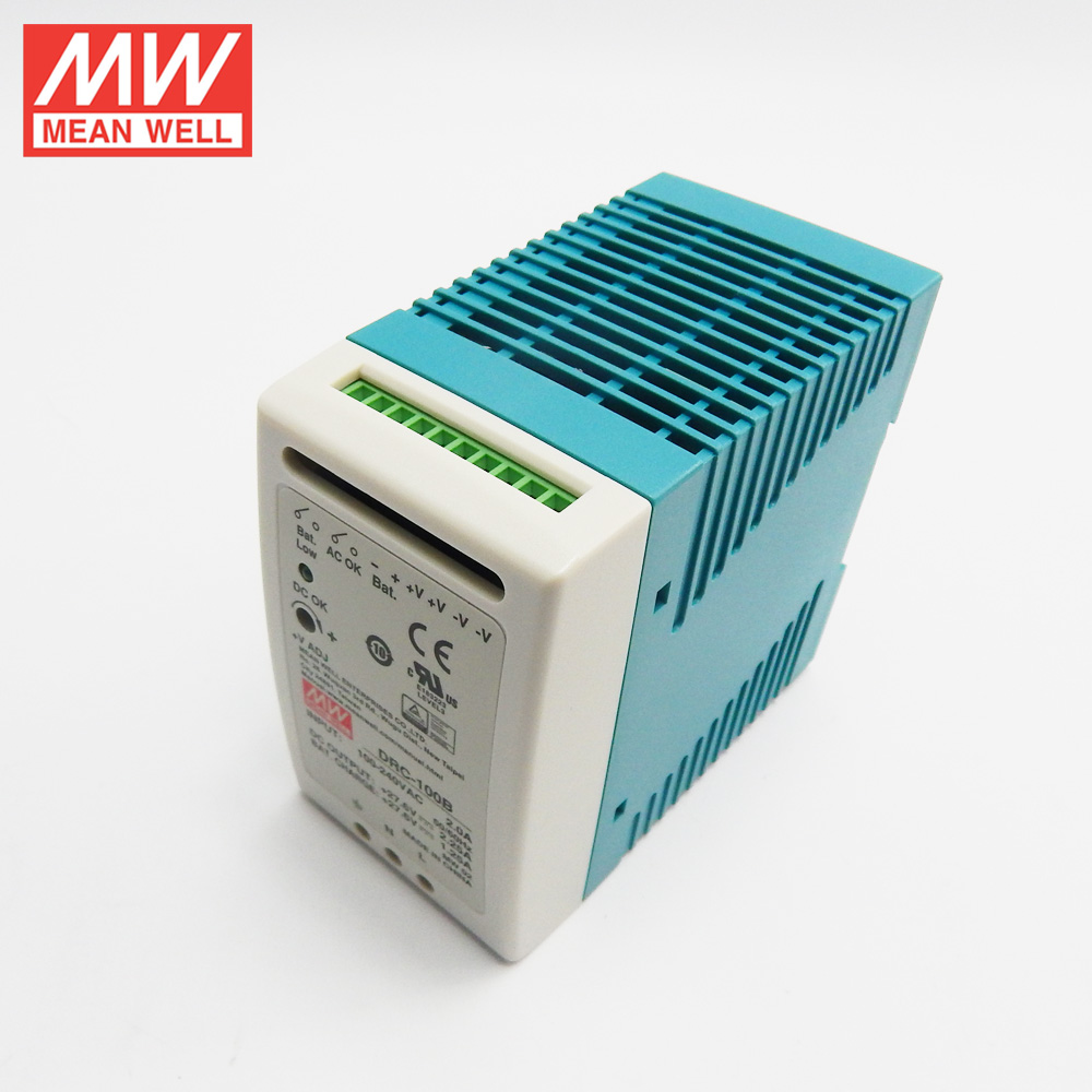 MW-DRC-100B MEANWELL DRC-100B, 27.6V 5.5A Ups Fonksiyonlu Ray Tipi
