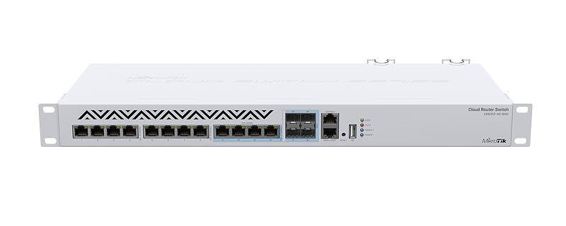 CRS312-4CPlus8XG Cloud Router Switch 312-4CPlus8XG 4 Port Combo 10Gbit SFP+ Eth , 8xPort 1G/2.5G/5G/10G Eth L5
