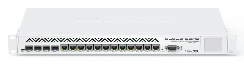 CCR1036-12G-4S-EM Cloud Core Router 1036-12G-4S-EM 8GB RAM ,4xSFP, 12xGbit LAN, LCD, L6 Firewall / Router
