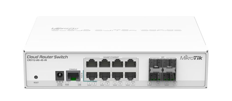 CRS112-8G-4S-IN Cloud Router Switch 112-8G-4S-IN Layer3, 8x Gbit Lan ,4xSFP,Switch,LCD,L5