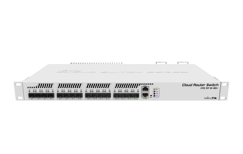 CRS317-1G-16S-PLUS-RM Cloud Router Switch 317-1G-1S+RM 1xGbit Lan, 16xSFP+, L6 Rack Mount