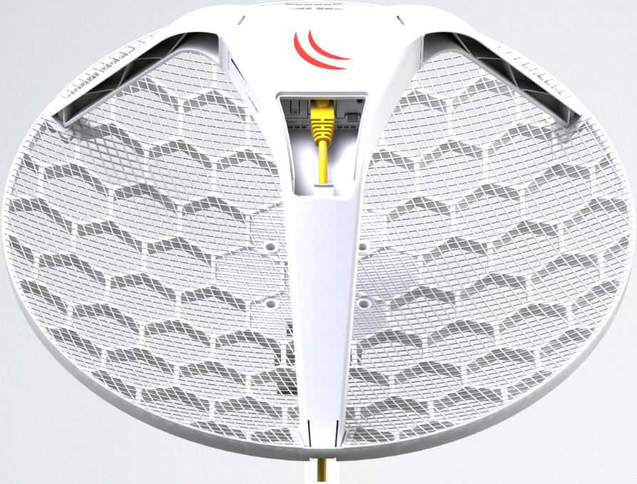 RBLHG-5nD Mikrotik Lite LHG 5, 5 Ghz 24.5dBi 7 Derece Dish Anten, 2x2 802.11an Wifi L3