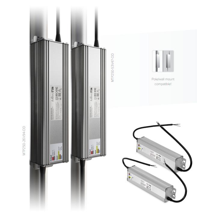MTP250-53V47-OD&MTP250-26V94-OD Mikrotik NetPower Güç Kaynağı MTP250-53V47-OD / MTP250-26V94-OD