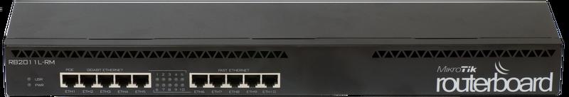 RB2011iL-RM Mikrotik 2011iL-RM, 5xLAN, 5xGbit LAN, RouterOS L4, 1U rackmount