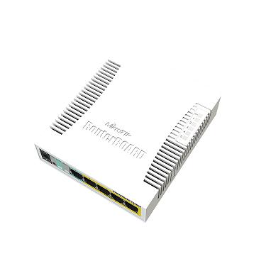 RB260GSP Mikrotik RB260GSP POE Out 4 Port , 5 x Gigabit 1x SFP Case SwOS , Layer2 Swich , Fiber Dönüştürücü