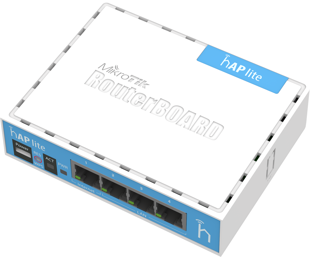 RB941-2nD Mikrotik RB941-2nD hAP Lite 2x2 Mimo 2.4 Ghz 802.b/g/n Wifi AP L4