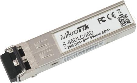 S-85DLC05D Mikrotik S-85DLC05D, SFP Modül, 1 Gbit Multi Mod(MM) 1.25G MM 550m 850nm