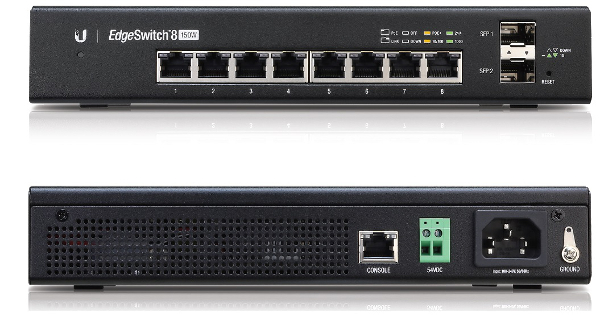 ES-8-150W Ubiquiti Edge Yön. Gigabit Switch 8x1Gbit Eth + 2x SFP 150Watt