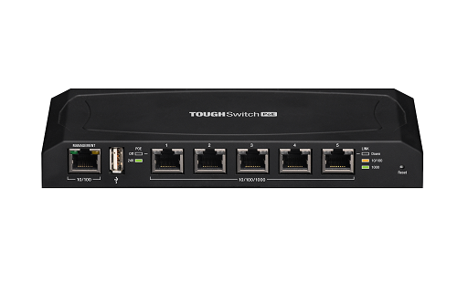 TS-5-POE Ubiquiti ToughSwitch 5 Port Gigabit 24V Pasif Poe Yönetilebilir L2 Switch