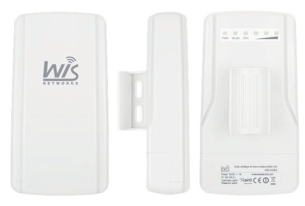 WIS-Q5300 WisNetworks WIS-Q5300 5GHz 300Mbps Hi-Power Outdoor Wireless AP & CPE